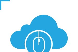 Cloud storage access icon. Vector