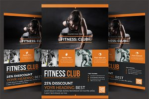 fitness flyer photos graphics fonts themes templates creative