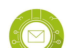 Email icon. Vector