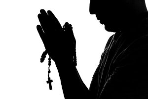 man hands prayer