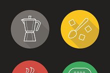 Coffee. 4 icons. Vector