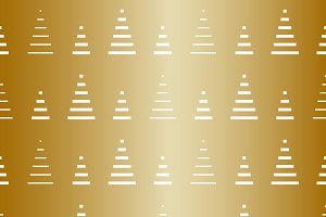 Christmas tree repeat pattern