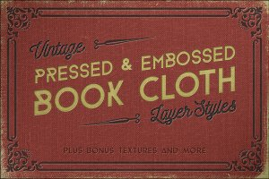 Vintage Pressed Book Cloth Styles+