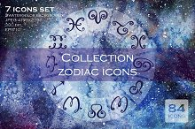 Collection zodiac icons