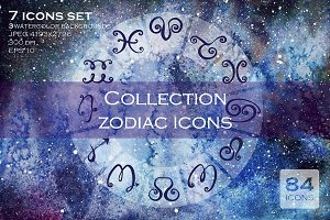 84 vector zodiac icons