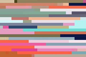 Bright and Muted Pixel Color Stripes