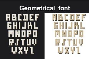 Geometrical font