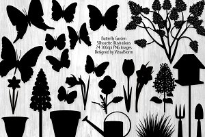 Butterfly Garden Silhouettes