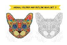 Animal Head. Set 3