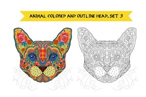 Animal Head. Set 3