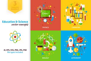 Education Science Vector Concepts