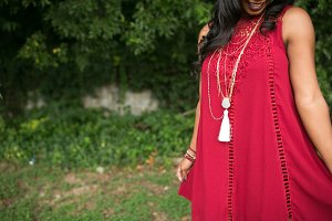 The Perfect Maroon Crochet Dress