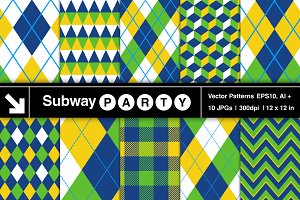 Rio Golf Style Vector Patterns