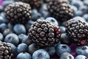 Blackberry and blueberry