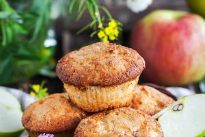 Delicious apple muffins
