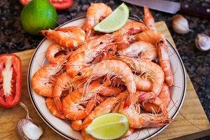 Delicious prawns