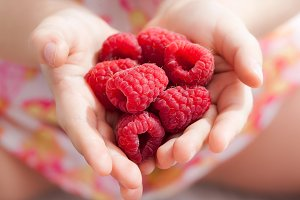 Raspberry in little hands