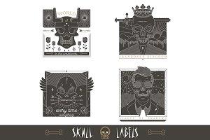 Skull Labels