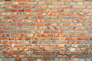 Red Brick Wall Background for your d