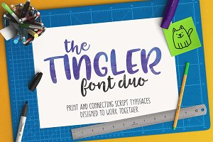 Tingler duo - two handwritten fonts