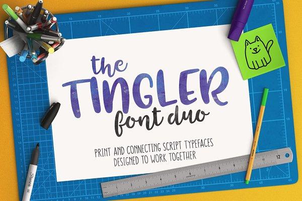 Tingler duo - two handwritten fonts