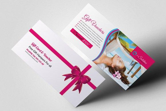 Beauty Spa Gift Voucher Template Card Templates Creative Market