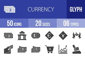 50 Currency Glyph Icons