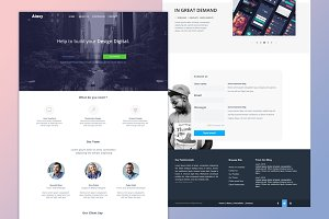 Alaxy (One Page PSD Template)