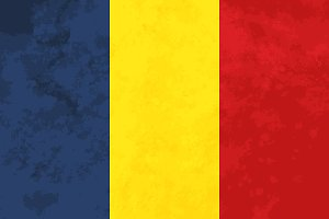 True proportions Romania flag