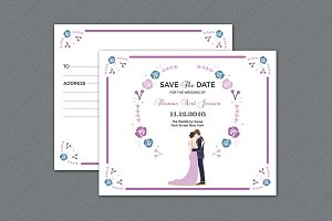 Wedding Save The Date Template