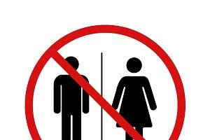 No toilet forbidden sign
