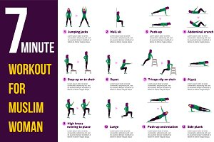 7 minute workout for mislim woman