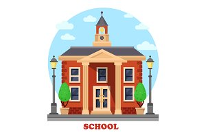 School facade for education