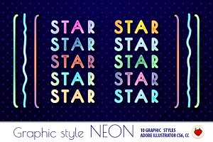 NEON Retro Graphic Styles (AI)