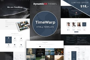 TimeWarp - Future HTML5 Template