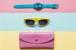 Minimalism pastel fashion set