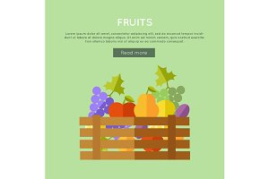 Fruits Vector Web Banner