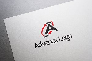 Advance Logo - A Letter Logo