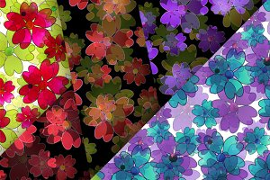 6 Seamless floral patterns .
