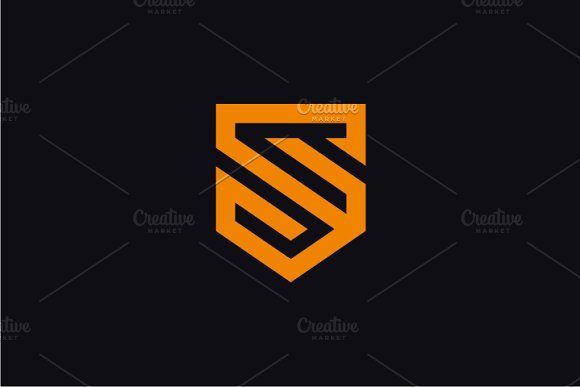 Shield letter s logo logo templates creative market thecheapjerseys Images