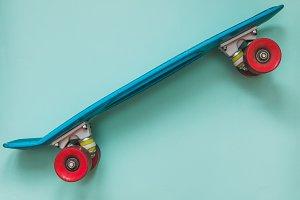 Tiffany blue skateboard