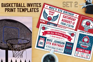 Basketball Invite Templates vol.2