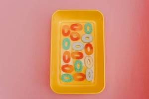 Container with candy