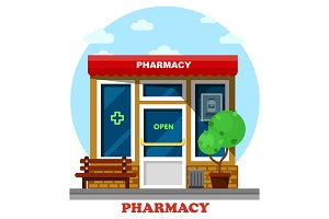 Pharmacy shop or store