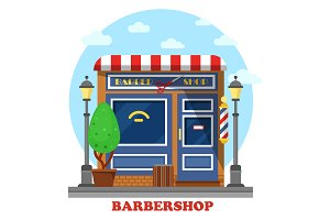 Barbershop or barbers store