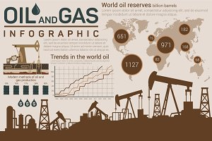 Oil and gas template for infographic