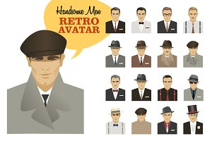 Fashion Men. Retro Avatar