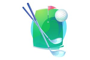 Golf gear icon or logo