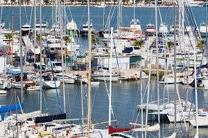 Harbor in City of Split in Croatia