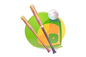 Baseball yarn icon or logo
